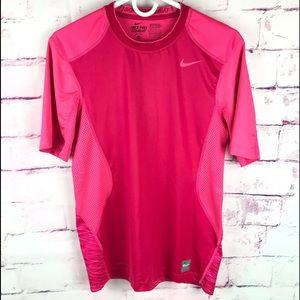 NIKE PRO COMBAT Dri Fit Pink Tee Shirt